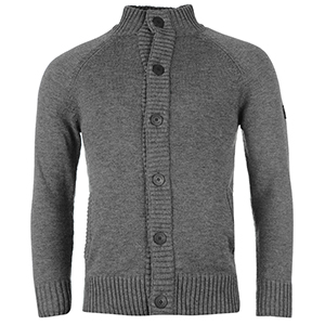 파이어트랩 버튼 니트 가디건 차콜 말 (Firetrap Button Through Knitted Cardigan Charcoal Marl)